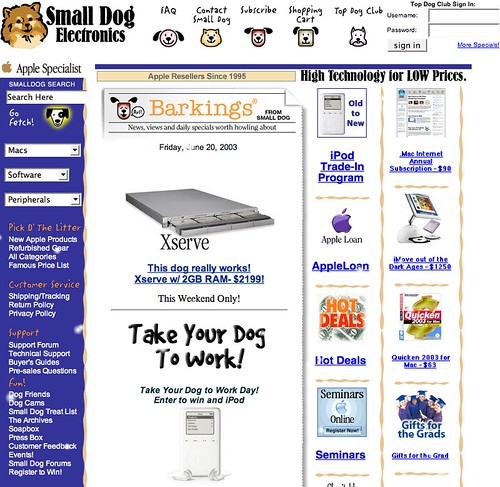 Small Dog Electronics | This is from 2002. | Small Dog Electronics ...: https://www.flickr.com/photos/smalldog/360700309