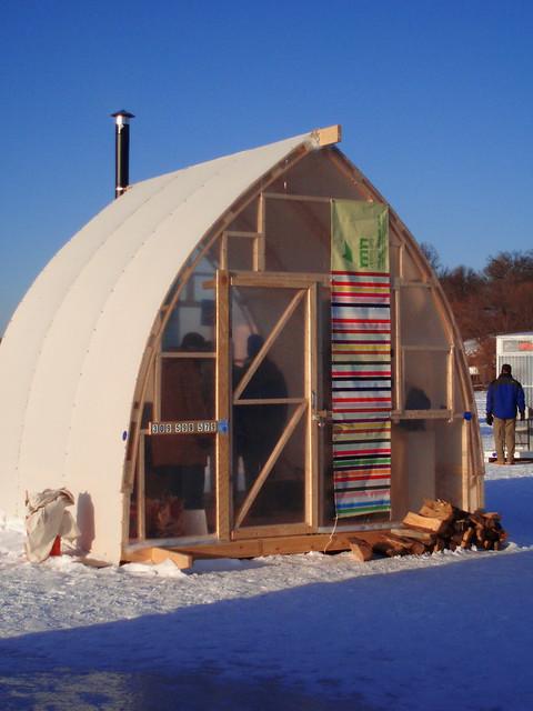 Ice fishing houses - photo#30