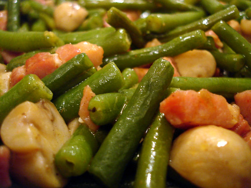 how to cook green beans with bacon bits