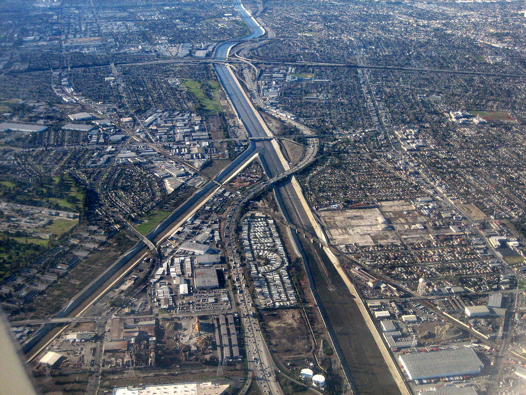 los angeles canal | as seen from QF93, MEL to LAX | Jake P | Flickr