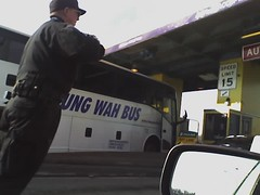 Fung Wah got stuck in the tolls at a 30-degree angle | by John Niedermeyer