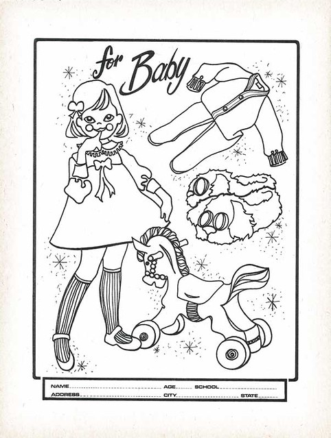1972 Hills Department Store Coloring Book Contest Page | Flickr