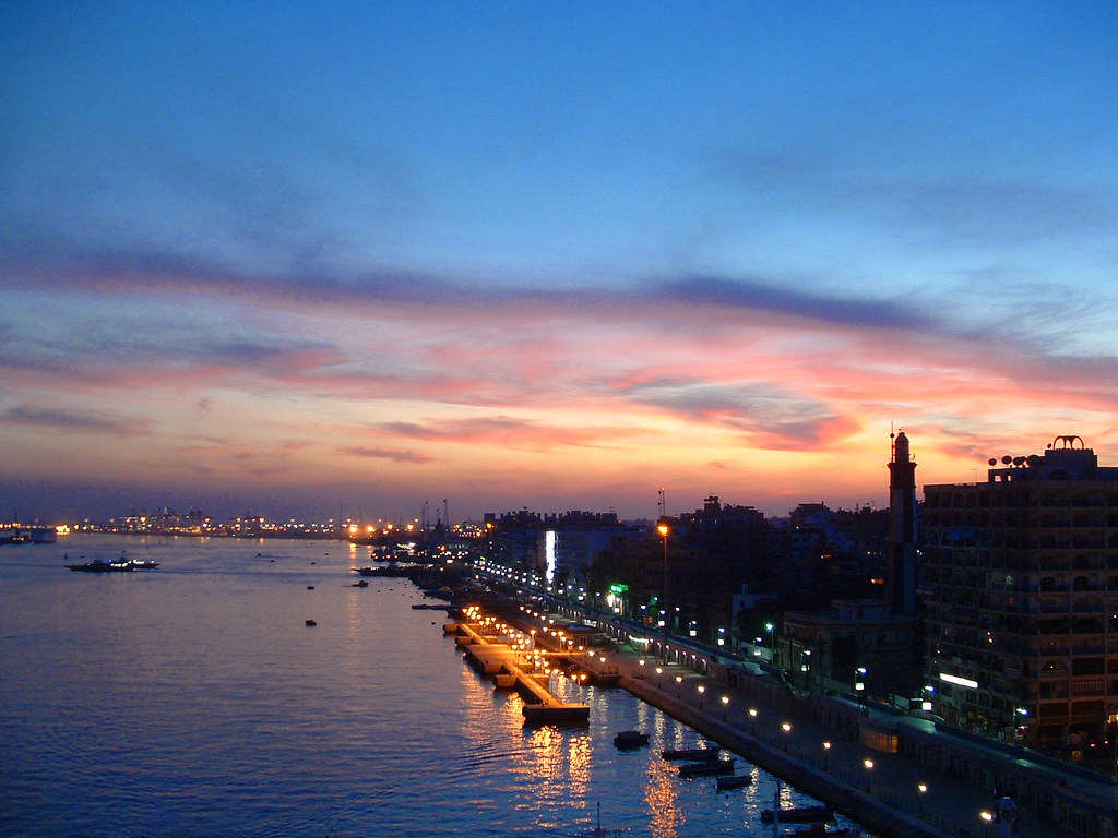 Port said sunset sunset at port said egypt looking south flickr port said sunset by phil delfryn design publicscrutiny Gallery