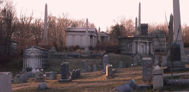 north mt  moriah cemetery philadelphia   february light