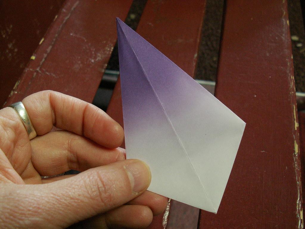 Origami pattern fleur de lys 12 origami fleur de lys pat flickr - Origami fleur de lys ...