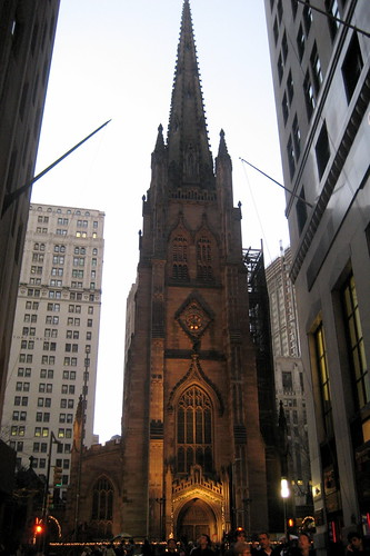 Nyc Fidi Trinity Church Trinity Church Prominently