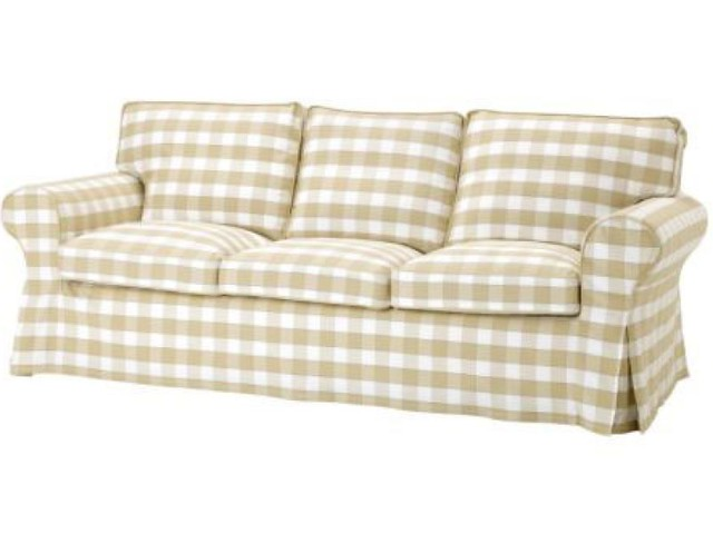 ikea ektorp 3 seat sofa slipcover bergvik beige randi