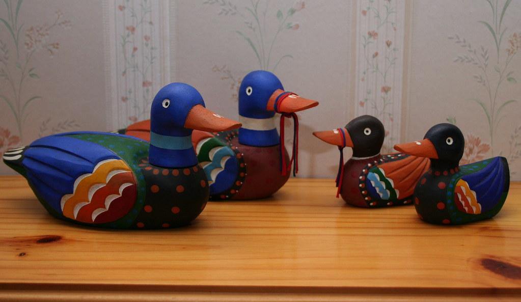 Traditional Korean Wedding Gifts: Two Pairs Of Korean Wedding Ducks