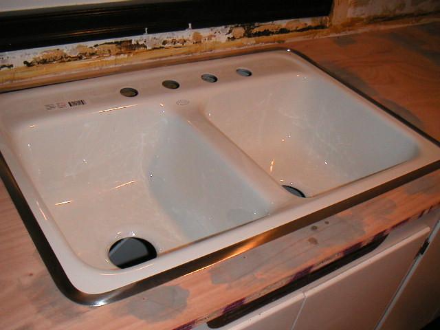 Kohler White Kitchen Drop In Sink