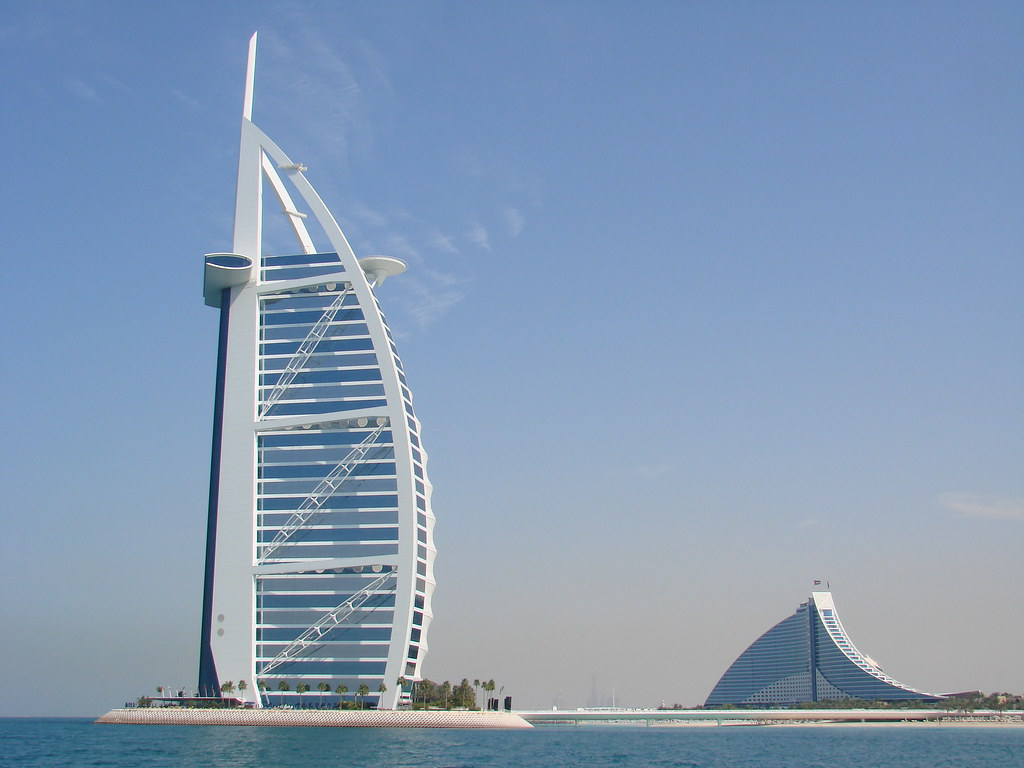 Burj al arab and jumeirah beach hotel picture from for Hotel burj al arab