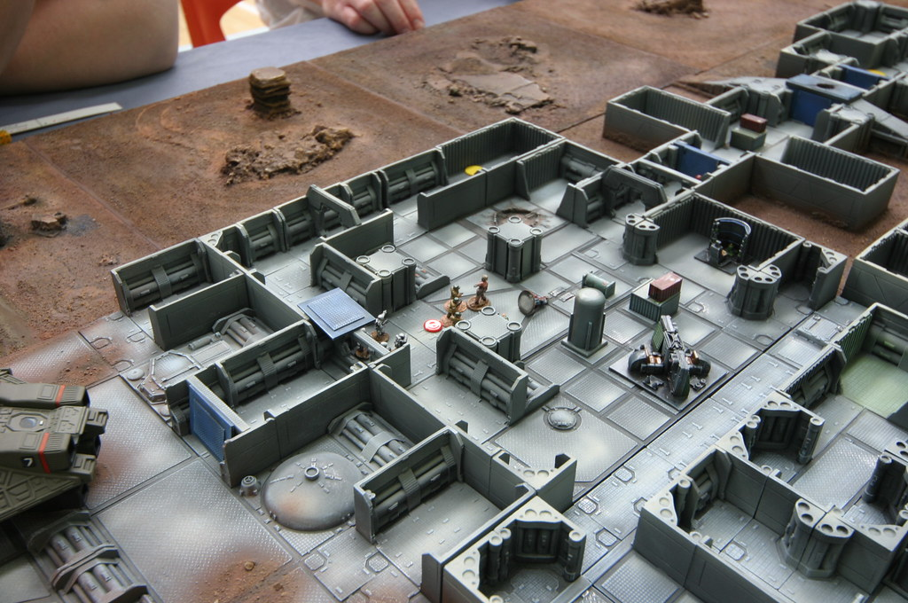 Sci Fi Layouts : Mm sci fi terrain layout how was this built