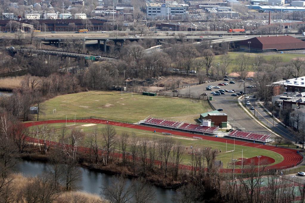 Wilbur Cross High School track & football field