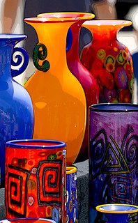 Colorful art glass with a photoshop filter this for Michaels arts and crafts san diego