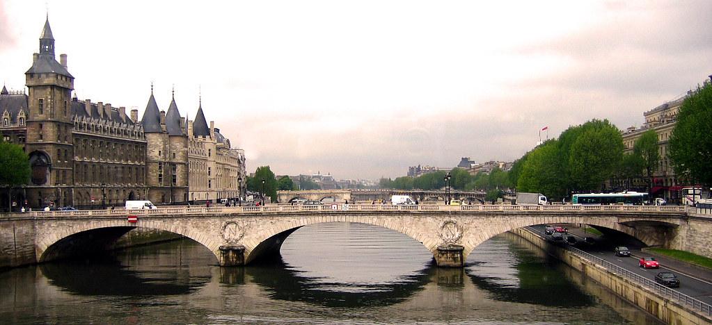 Saint Michel Paris France Pont Saint Michel Paris