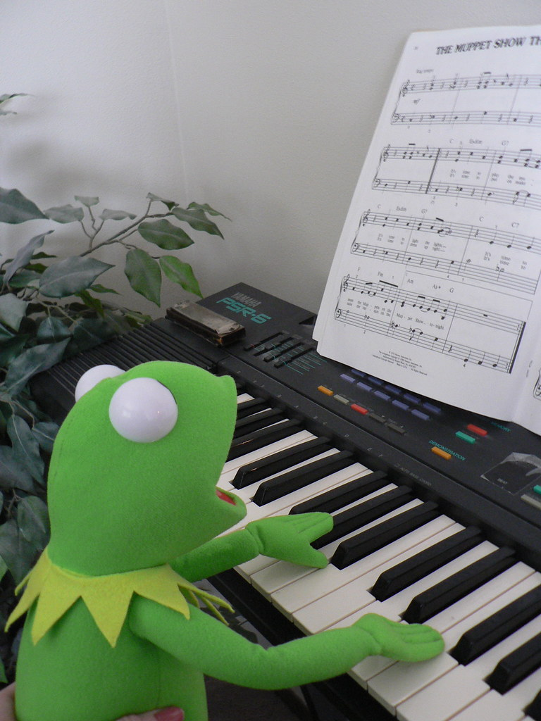 Musical Kermit | Kermit is diligent about learning the ...