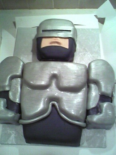 Godot S Robocop Birthday Cake Godot S Robocop Birthday