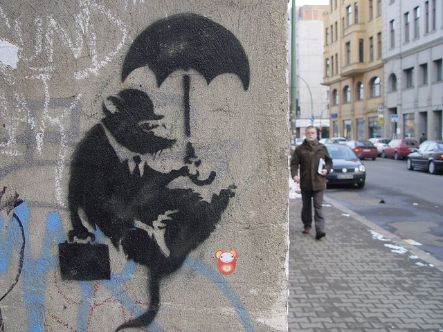banksy in berlin seven resist flickr. Black Bedroom Furniture Sets. Home Design Ideas