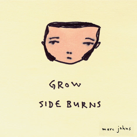 Post-it note drawing: grow sideburns | by Marc Johns