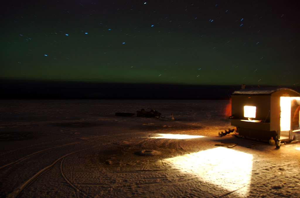 kapuskasing, northern lights, star trails and an ice fishi… | flickr, Reel Combo