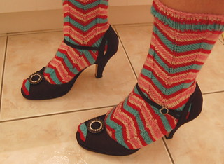 "Vintage Jaywalker socks (and my ""fancy"" shoes) 