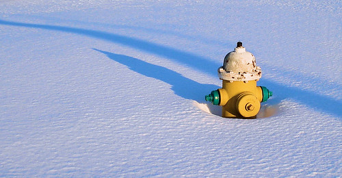 Shadowed Hydrant in Snow | by Bob.Fornal
