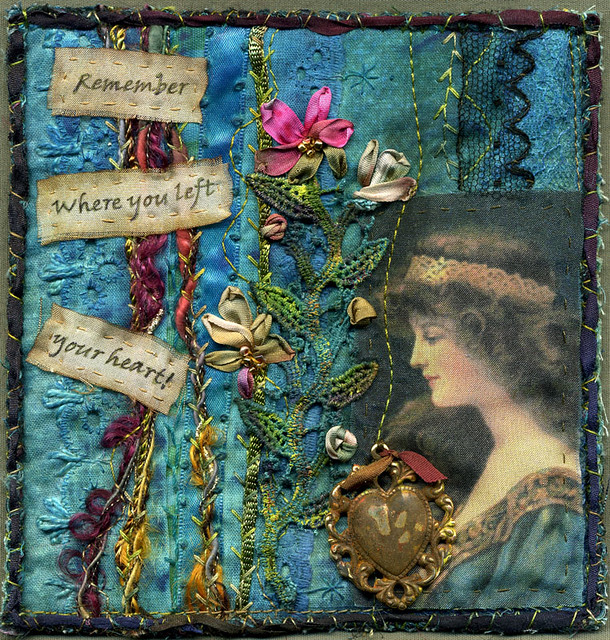 Art Quilt From Crazy Quilt Square Revisited My