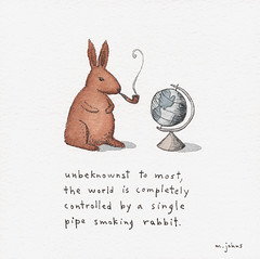 the world is controlled by a rabbit | by Marc Johns