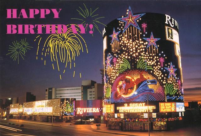 1999 birthday card from the riviera las vegas nv flickr