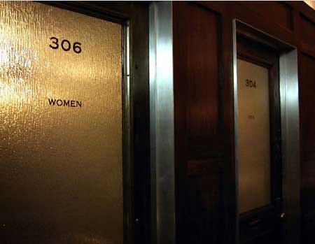 Bathroom Doors At Public Restaurant Product Of AvroKO
