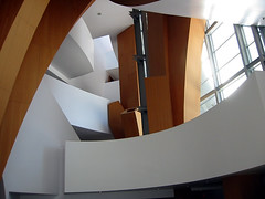Disney Hall's entry atrium | by Payton Chung