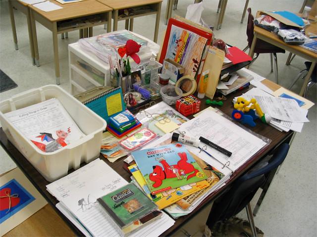 ... My School Desk   By Xochiquetzal Sil:)