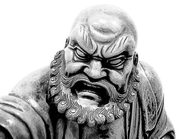 Bodhidharma The Zen Patriarch Having Cut Off His