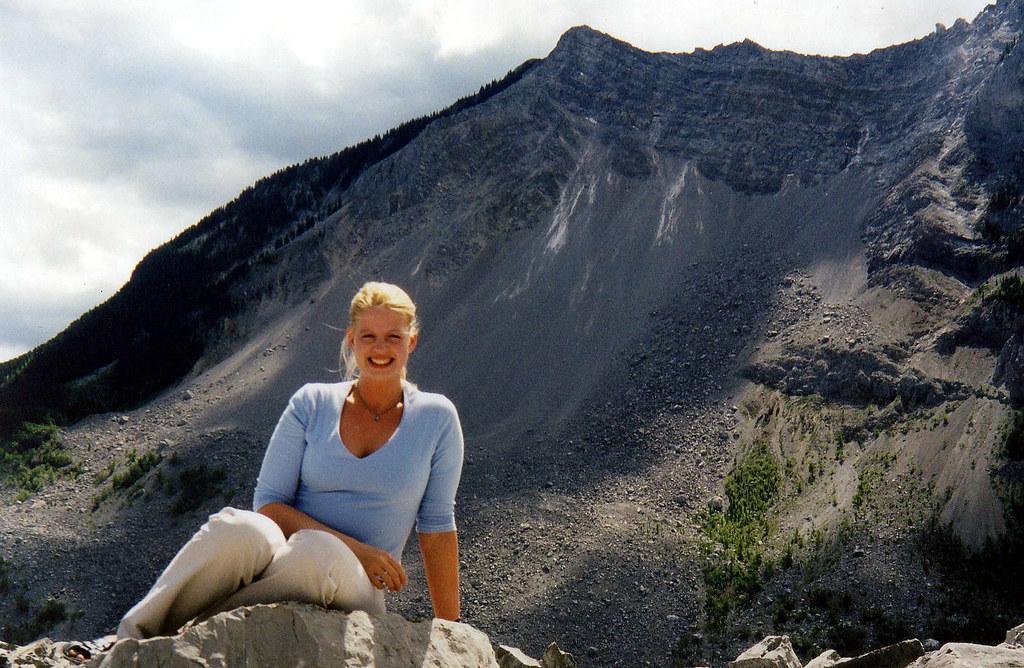 Kristi at Frank Slide BC | Turtle Mountain aka Frank Slide ...
