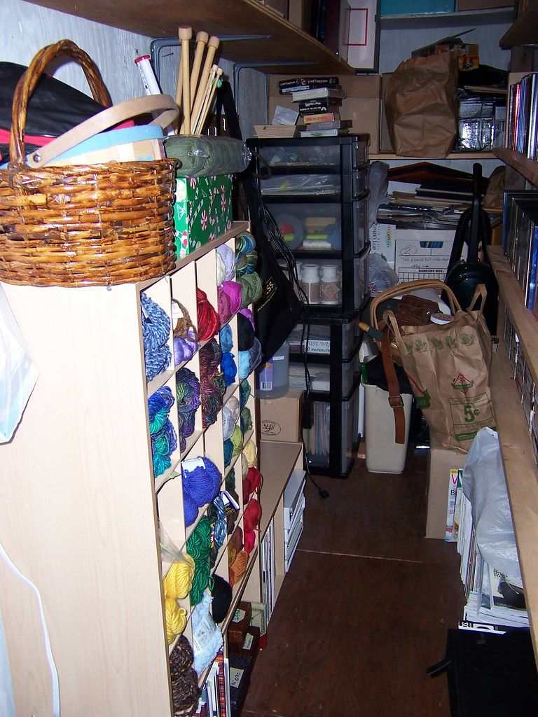 Organizing Knitting Supplies : Yarn storage almost all of my knitting supplies