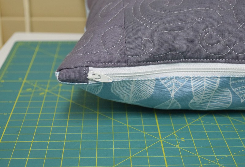 butterfly pillow zipper detail