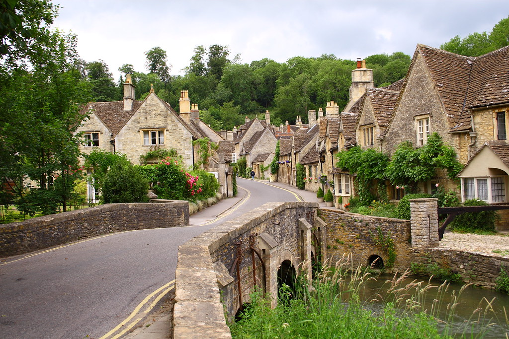 Looking up Water Street from the Brook - Castle Combe, England