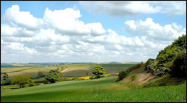 Lincolnshire Wolds Near Fulletby The Lincolnshire Wolds
