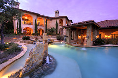 Tuscan Estate Pool Sculpture | by JamMarz
