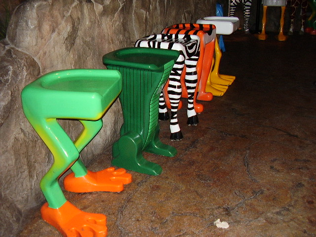 Animal Bar Stools Bar Stools At The Rain Forest Cafe In