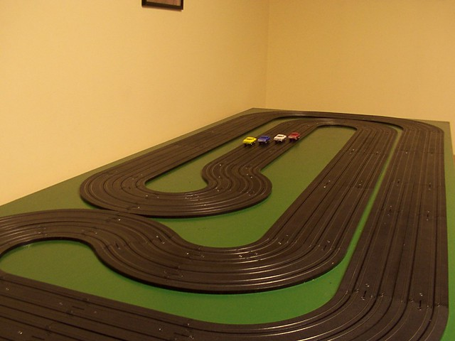 my tuckaway 25 ho scale slot car track constructing my wiring a wooden track slot car