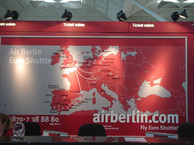 Air Berlin Stansted route map David Lisbona