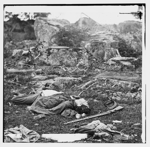 No Known Restrictions: Killed at Gettysburg, Photo by Alexander Gardner, July 1863 (LOC) | by pingnews.com