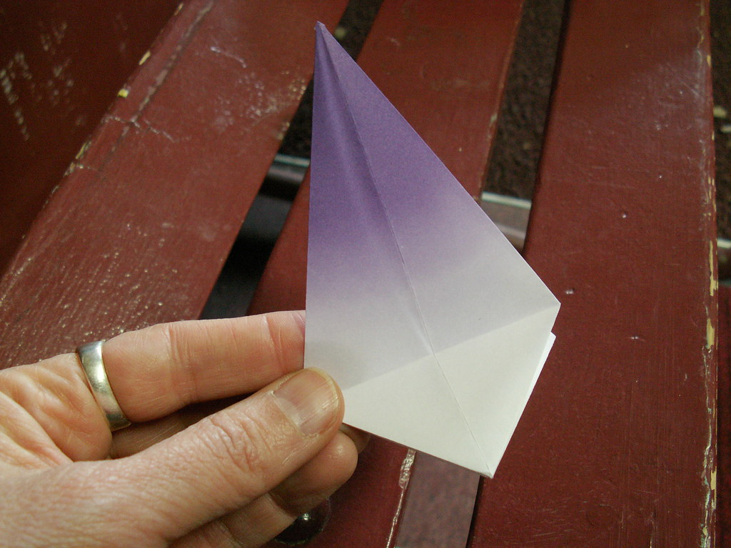 Origami pattern fleur de lys 14 origami fleur de lys pat flickr - Origami fleur de lys ...