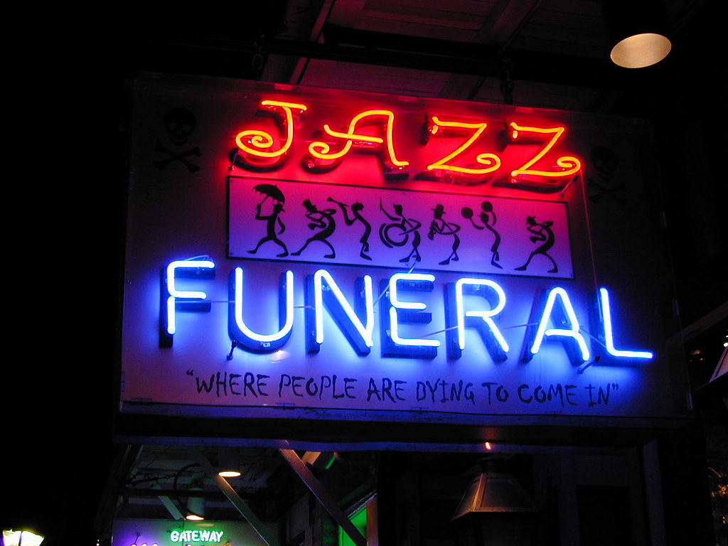 Sign And Drive >> Jazz Funeral Neon (New Orleans 2002) | Sorting through my ha… | Flickr