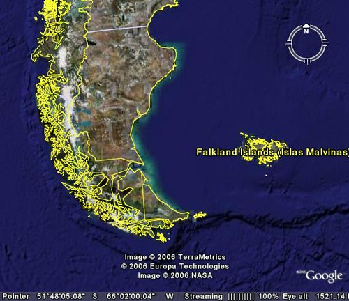 Falkland Islands On Map Of South America