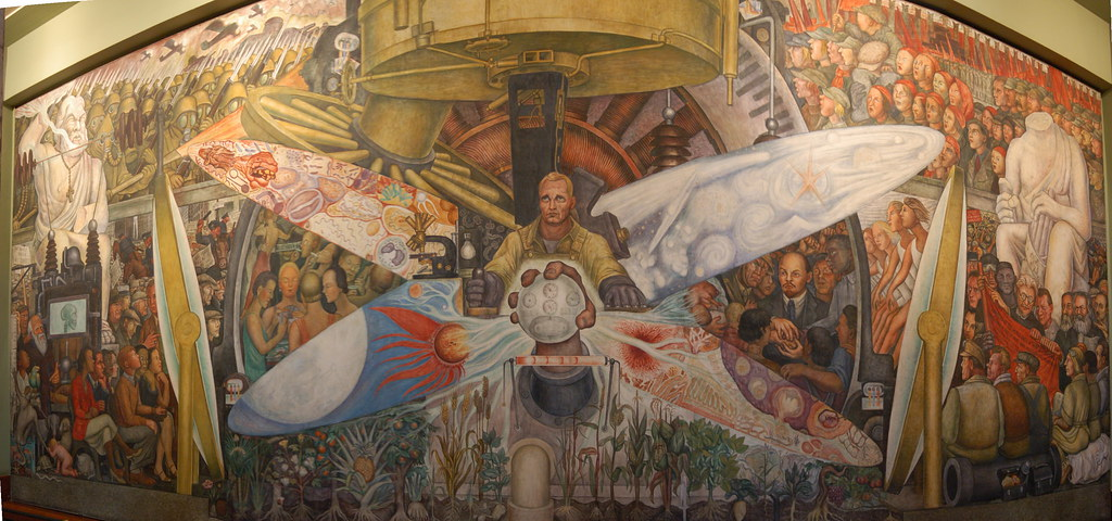 Diego rivera mural bellas artes this mural was for Diego rivera rockefeller mural