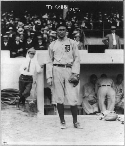 No Known Restrictions: Baseball: Ty Cobb from George Grantham Bain Collection, 1914 (LOC) | by pingnews.com
