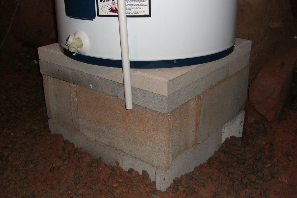 Water Heater On Base The New Water Heater Is 26 Quot In