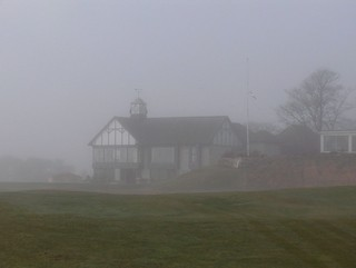 Royal Dornoch clubhouse in the fog | by foxypar4