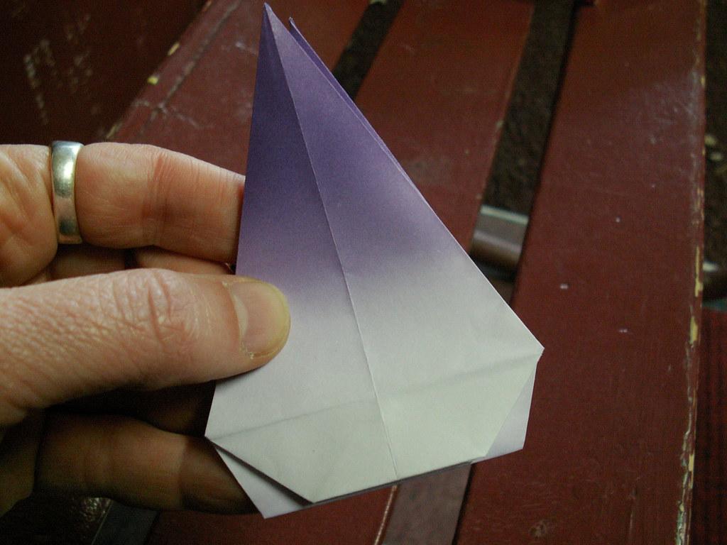 Origami pattern fleur de lys 28 origami fleur de lys pat flickr - Origami fleur de lys ...